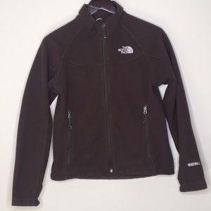 The North Face Fleece Zip Up Jacket Med Brown